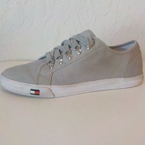 Hilfiger Sneakers Men 11M Gray Faux Leather LaceUp